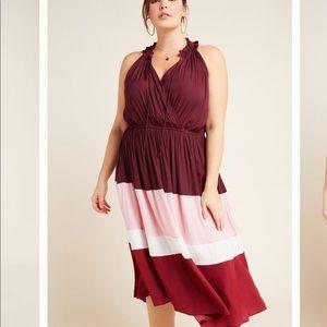 ANTHRO Color Block Midi Dress